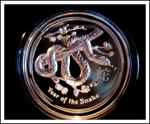 Australian Lunar Series II 2013 Year of the Snake High Relief Silver Proof