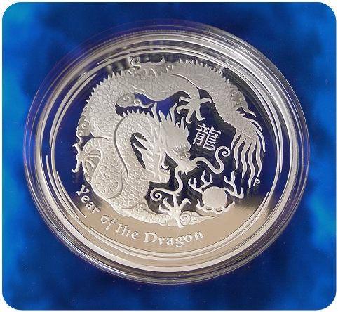 2012 Silver Lunar Dragon Proof