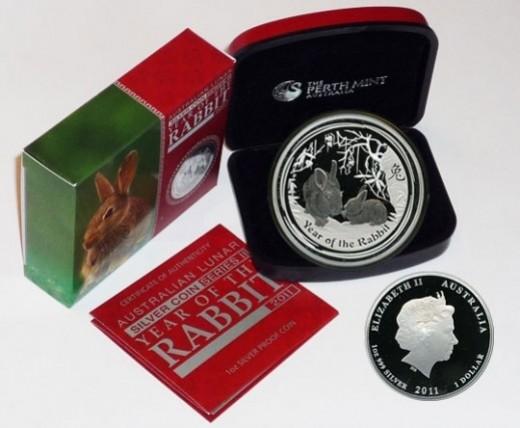 2011 Lunar Rabbit Proof Coin