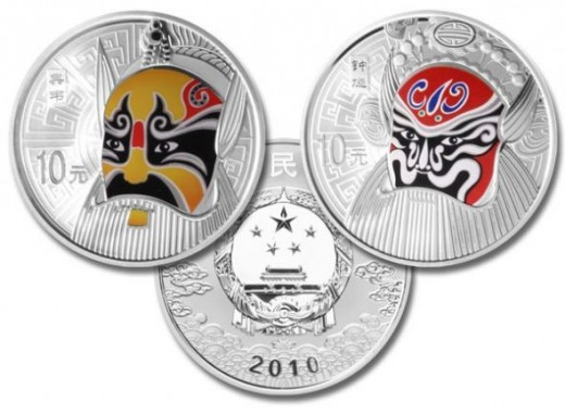 China 2010 Peking Opera Silver Proof Set