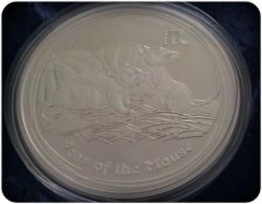2008 Lunar Mouse Silver Coin