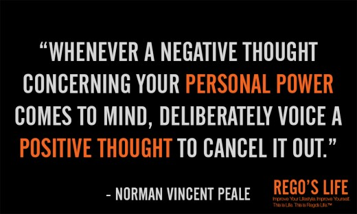 Whenever a negative thought... - Norman Vincent Peale