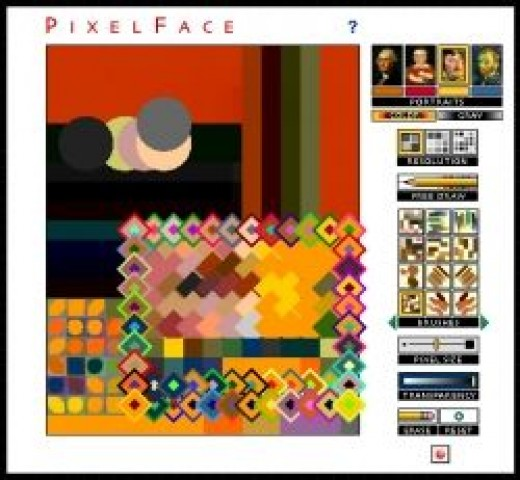 Click to Go To Pixel Face