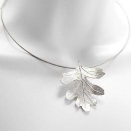 UK handmade mayflower leaf necklace