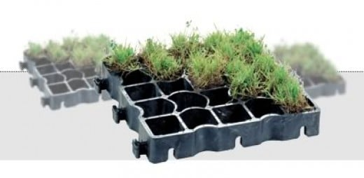 ecogrid planted with grass