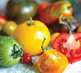 Heirloom tomatoes - such a wonderful multitude of colors, textures and shapes!