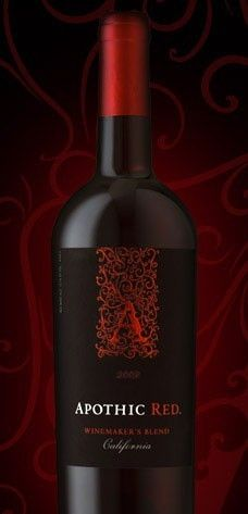 Wine Bottle Lables - Apothica Red