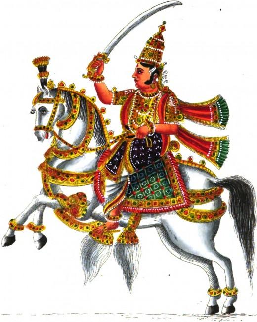 Kubera, the Hindu god of treasure