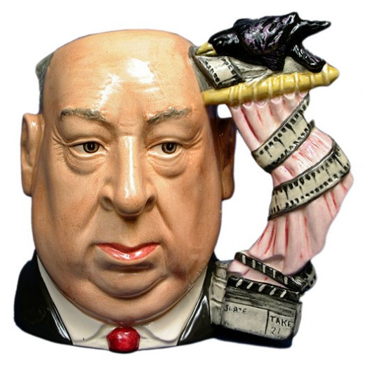 HERE IS AN EXAMPLE OF A CHARACTER MUG--ALFRED HITCHCOCK--ROYAL DOULTON