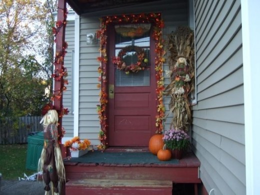 Our Side Porch - Fall 2011