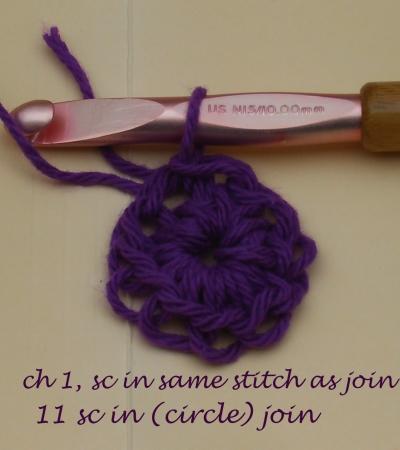 Step 3: 12 Single Crochets
