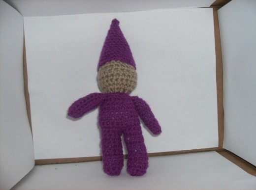 First Crochet 'Waldorf' knock off Gnome