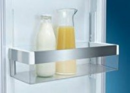 Door balcony - the bit you put your milk in. Most machines come with this so don't be impressed by manufacturers who tell you it's special. It is quite common for these to be large enough to hold a two litre bottle but be aware that not all of them c