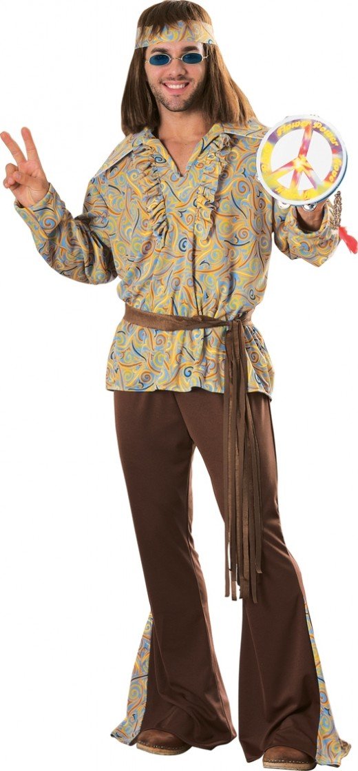 Hippy Man Costume - Available in 2 sizes