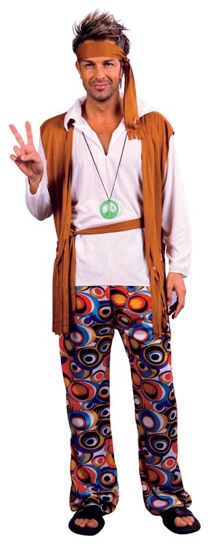 Budget Hippy Man Costume
