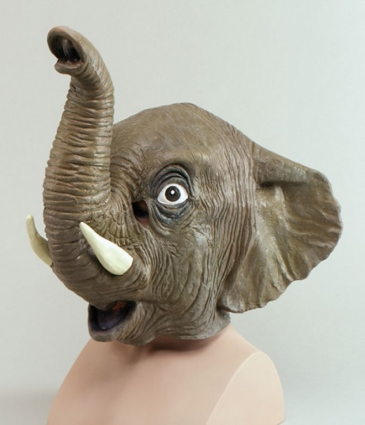 Zoo Animal - Elephant Overhead Mask