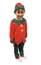 Kids Elf Costume - Available in sizes 3 -5 and 5 - 7 years