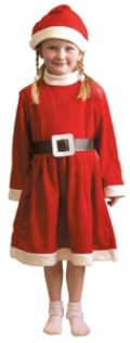Girl's Mrs Christmas Costume - Available is sizes 3 -5 and 5 - 7 years