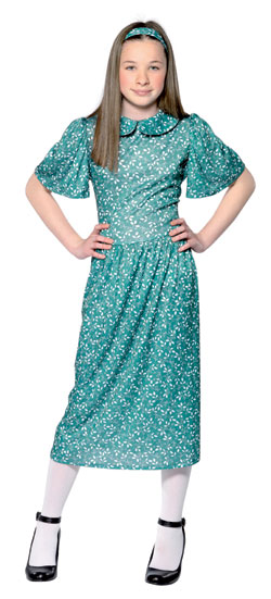 New Girl's Evacuee 1940s Fancy Dress Costume