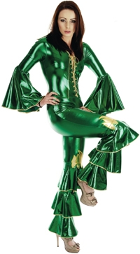 1970s Abba Ladies Costume - Green- available in 6 sizes