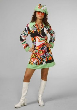 1970s Top Quality Ladies Fancy Dress Costume - available in 3 sizes