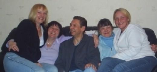 Me, Angela, Danny, June and Nicola (neice)