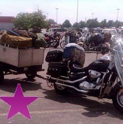 Purple Star overpacked bike
