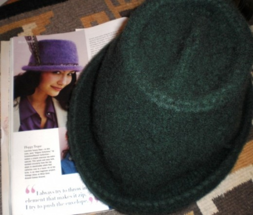Felted Fedora with magazine pattern
