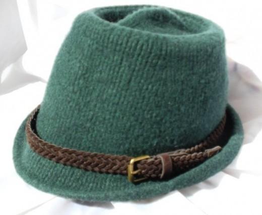 Knit Felted Fedora