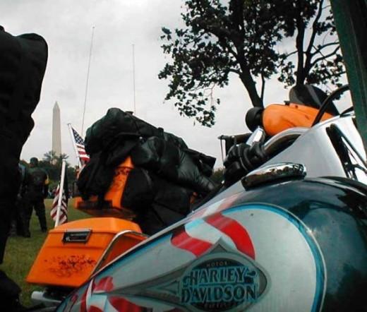 Patriotic Harley Davidson