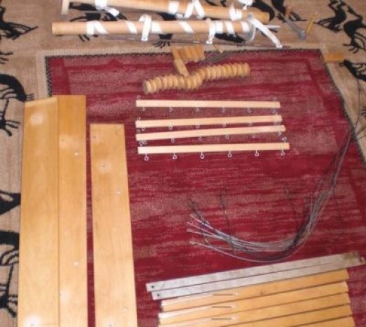 Weaving - can't set up my loomin-area or weave until these pieces are assembled. Photo 3