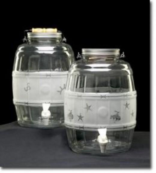 Western Decorated Sun Tea Container