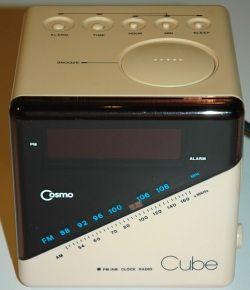 cosmo cube clock radio