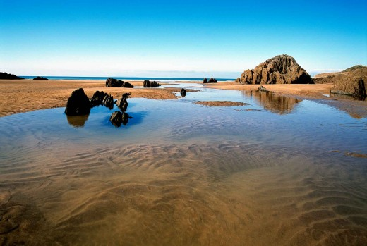 Polarising filter has cut out the reflections in the water and enhanced the colour of the sky.