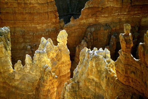 Bryce Canyon : just reflected light from the rocks around adds luminescence to this landscape.