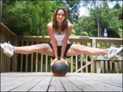 Get in shape with a medicine ball