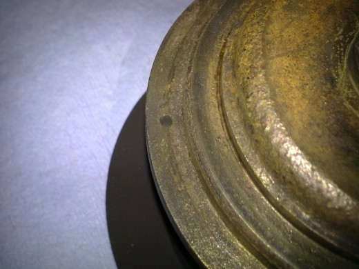 33- Notice the hole in the turbine side of the chra. That s where the guide pin needs to go.