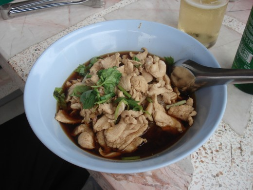 Chicken and Noodles. 35 Baht