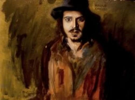 Johnny Depp Oil on Canvas