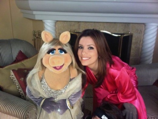 Piggy and Eva Longoria