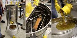 Working Honey Extractor