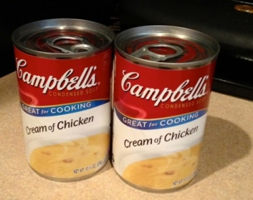 2 - 10 3/4 oz. cans of Campbell's Cream of Chicken Soup (Can Substitute with Cream of Mushroom)