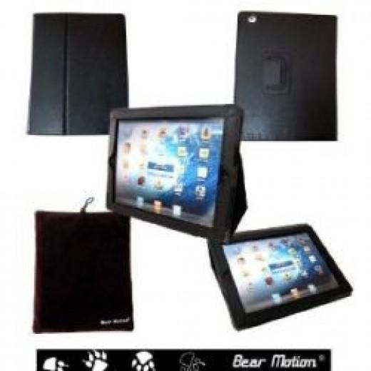 iPad 4 Bear Motion Leather Case