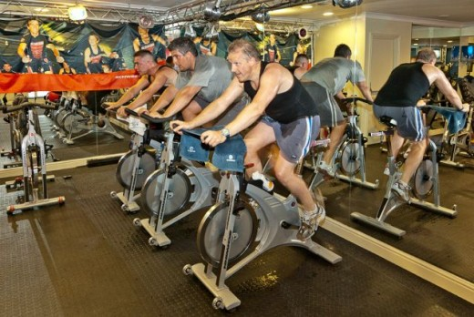 [Wikipedia]-Stationary spin cycle practice at gym