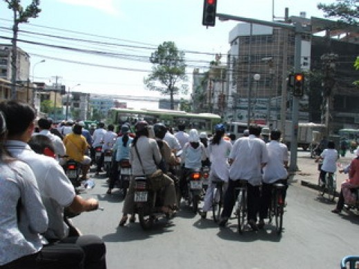 Saigon Traffic Chaos
