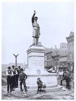 Haymarket Police Memorial that the Weathermen blew up