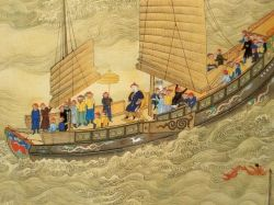 Chinese Junk from Qing Dynasty