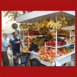 Corner Fruit Cart