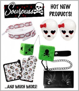 Sourpuss accessories and more!