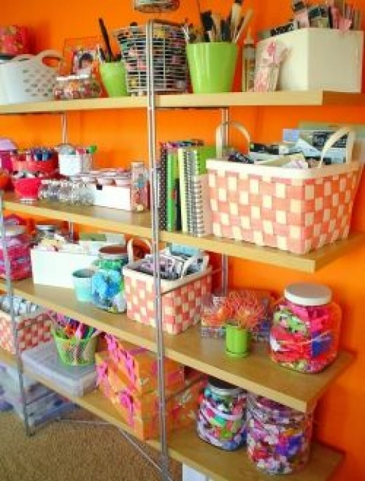 Orange Craft Room